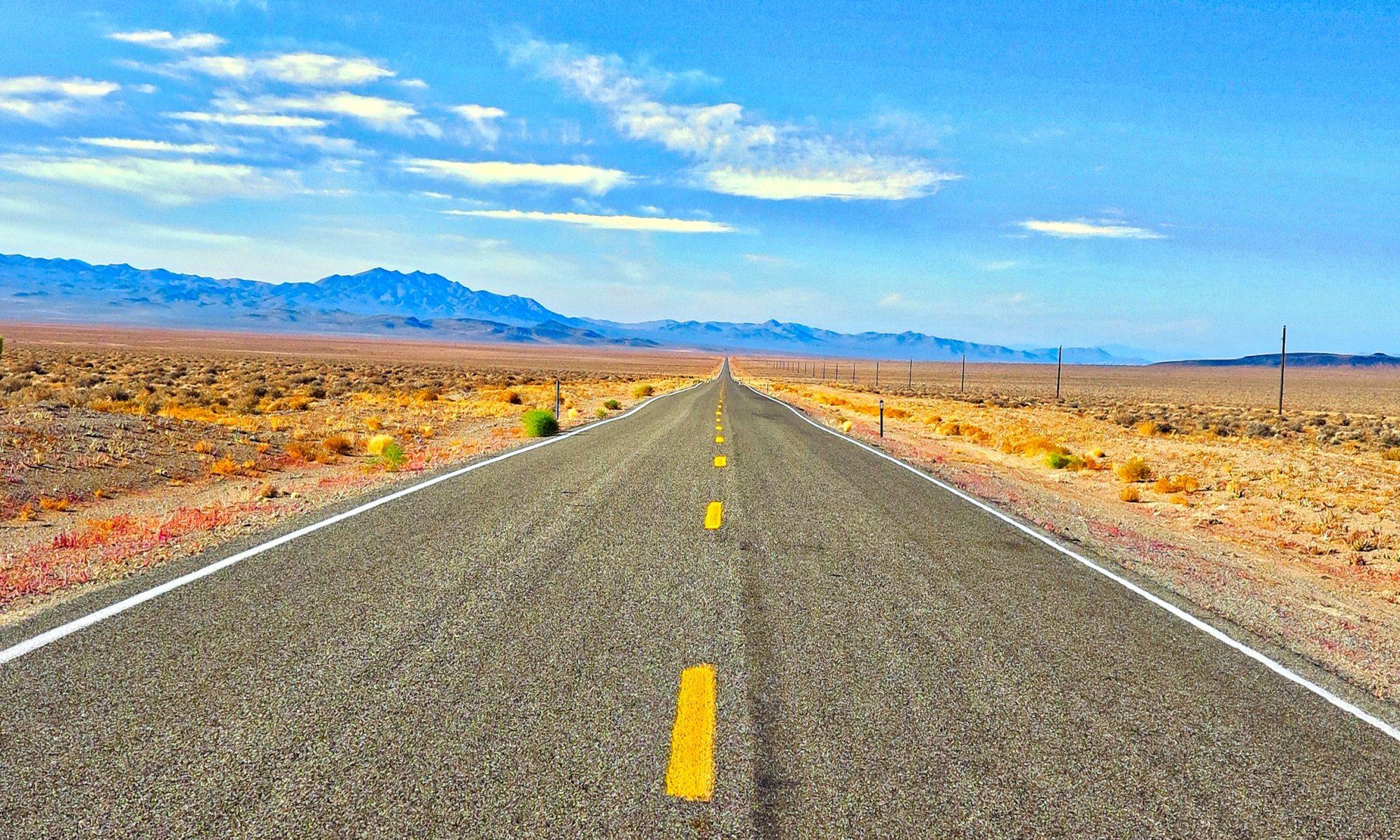 An open desert road