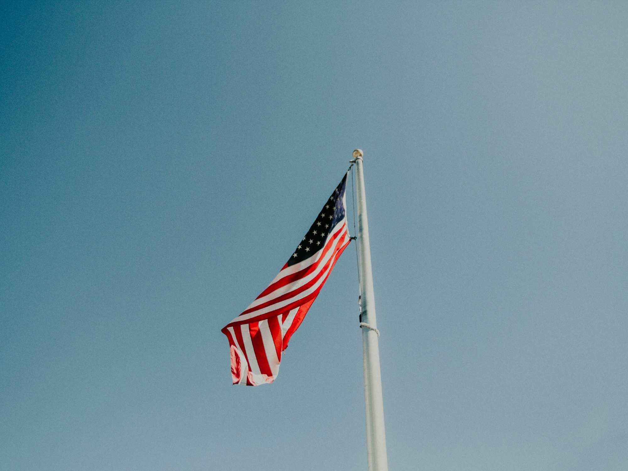 A waving US flag